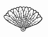 Fan Feather Coloring Hand Coloringcrew sketch template