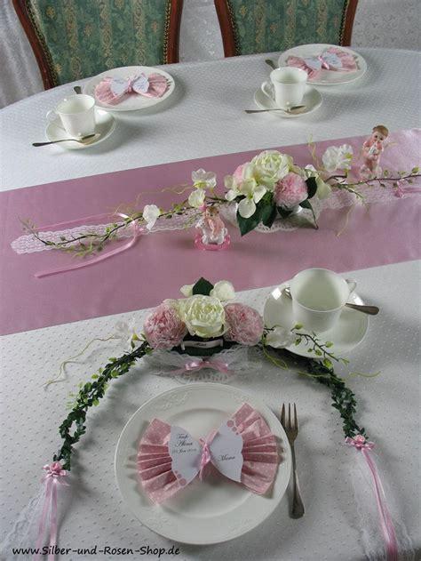 Dekoration Mädchen by Tischgesteck Rosa Taufe M 228 Dchen Blumen