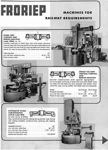 Froriep Vertical Lathes  U0026 Boring Mills