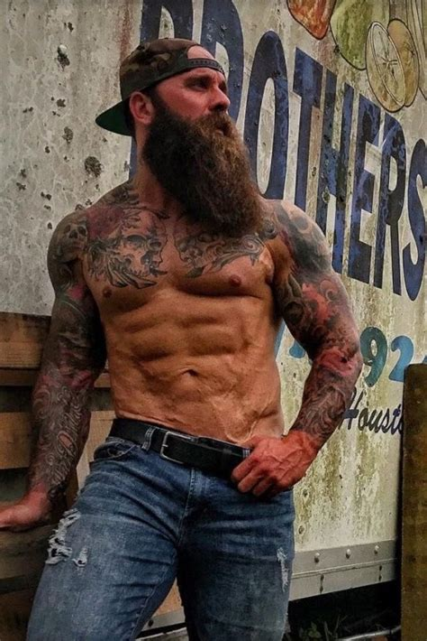 Excellent Build, Tattoos And Beard  Tattoos Pinterest