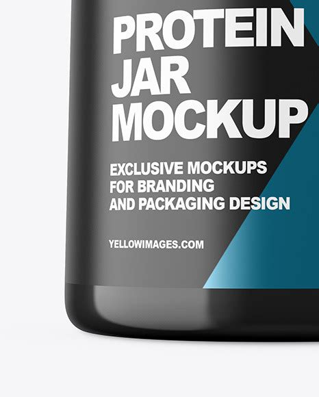 Get free money towards your purchases with creative market credits. دانلود موکاپ قوطی پروتئین Glossy Protein Jar Mockup 52097 ...
