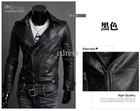 New Pu Leather Jacket Men Fashion Slim Motorcycle Jackets