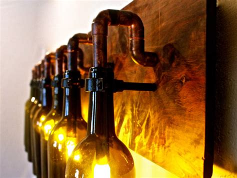 wine bottle light l industrial vanity sconce by bsquaredinc