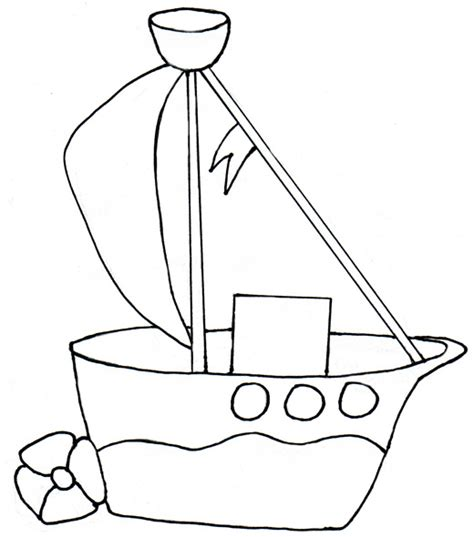 Toy Boat Outline by Bathtub Boat Clipart