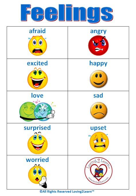 Learning New Words Feelings & Emotions Words, Word Cards, Chart   Clipart Best  Clipart Best