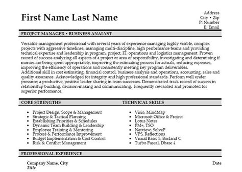 Business Analyst Resume Template by 10 Best Best Business Analyst Resume Templates Sles
