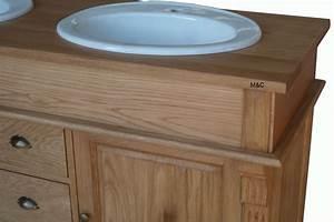 meuble salle de bain chne massif With meuble chene salle de bain
