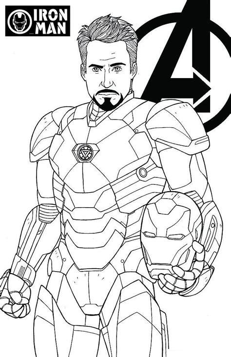 avengers endgame iron man tony stark coloring page