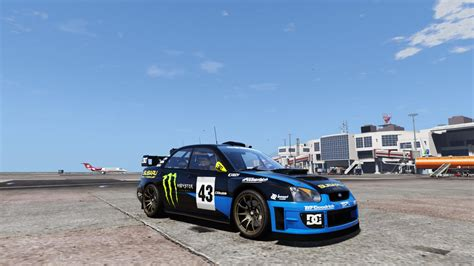 subaru wrc ken block rally livery for subaru s11 wrc gta5 mods com