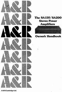 Power Amplifier Sa200 Manuals