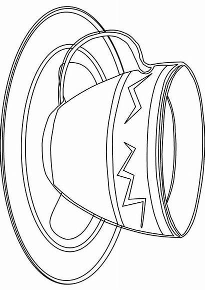 Cup Coloring Pages Cups Teacup Drawing Library