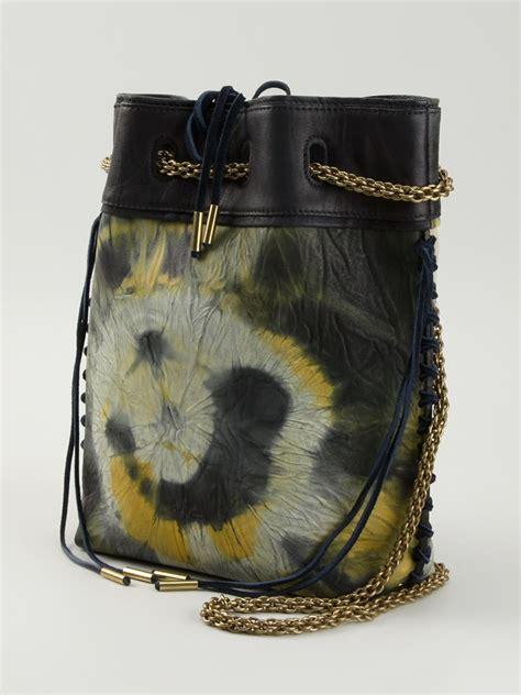lyst jerome dreyfuss gary boubou tie  dye bucket bag  natural