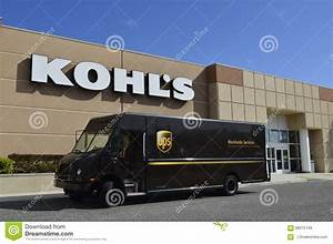 UPS Truck In Front Of Kohl39s Department Store Editorial