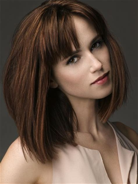fabulous straight blunt bangs hairstyles pretty designs