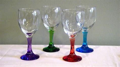 colored wine glasses cobalt blue stem wine glasses image of glasses