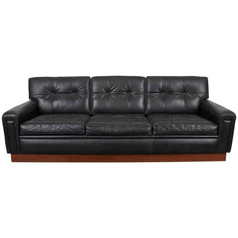 mid century leather sofa mid century modern black leather sofa by arne norell at
