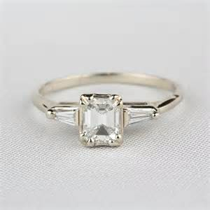 pre owned engagement rings jewelers pre owned emerald cut engagement ring