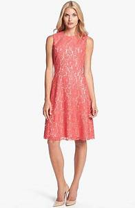 coral lace dresses for weddings eliza j lace fit flare With fit and flare dress for wedding guest