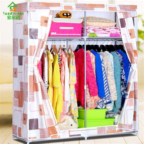 How To Keep Clothes In Cupboard by Oxford Cloth Wardrobe Simple Steel Reinforcement Thick