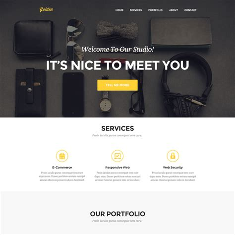 Portfolio Website Templates Clean Personal Portfolio Website Template Psd