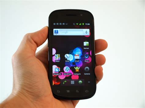goggle mobile nexus s on the android gingerbread phone