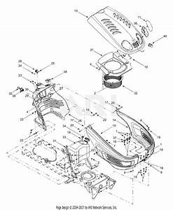 Mtd 13au614h755  2004  Parts Diagram For Hood  Fuel Tank