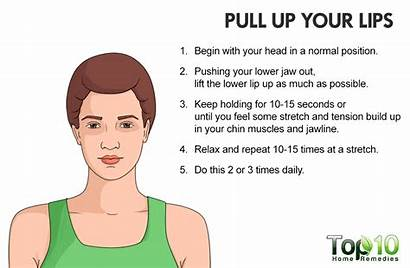 Face Fat Exercise Rid Lips Pull Stretch