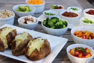 potato bar baked potato bar recipe dishmaps