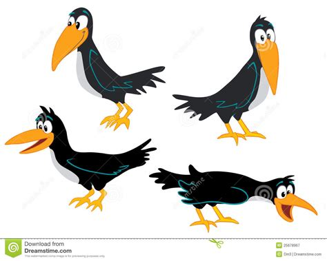Crows Collection Stock Vector. Illustration Of Bird