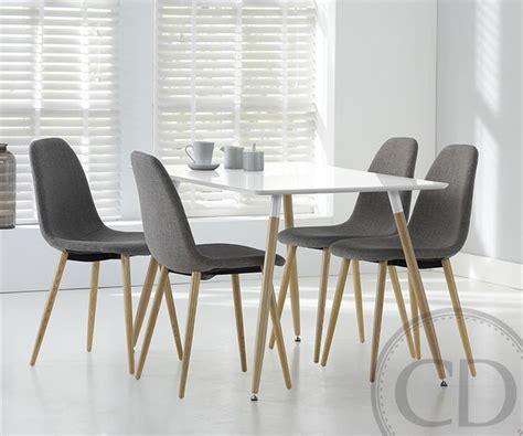 table blanche de cuisine table de cuisine blanche scandinave equinox sur cdc design