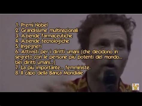 Illuminati Nuovo Ordine Mondiale by Jovanotti Intervento Shock All Universit 224 Di Firenze