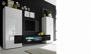 Meuble Tv Noir Laqué : ensemble meuble tv design laqu blanc et noir trivia 3 ~ Nature-et-papiers.com Idées de Décoration