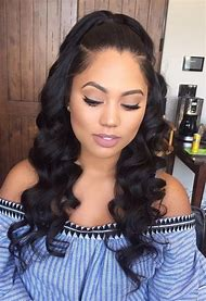 Middle Part Sew in Weave Hairstyles