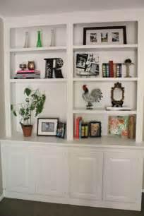 livingroom shelves ten june my living room built in bookshelves are styled almost