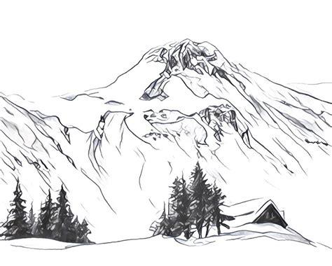 coloriage anti stress montagne montagnes enneig 233 es 8