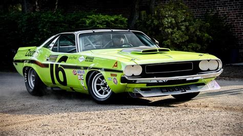 Race Dodge Challenger by 1970 Dodge Challenger Trans Am Sam Posey Trans Am Cars