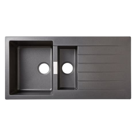 cooke and lewis kitchen sinks cooke lewis galvani 1 5 bowl grey composite quartz sink 8328