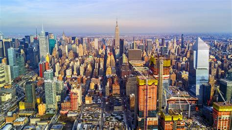 New York City Nyc Manhattans Westside Aerial Drone Video