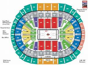 Spectrum Arena Seating Chart Staples Center Arena Map Los Angeles Lakers