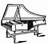 Harpsichord Vector Coloring sketch template