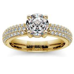 conflict free engagement rings pave diamond engagement ring in yellow gold