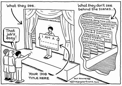 Scenes Behind Cartoons Office Guy Complexity Career