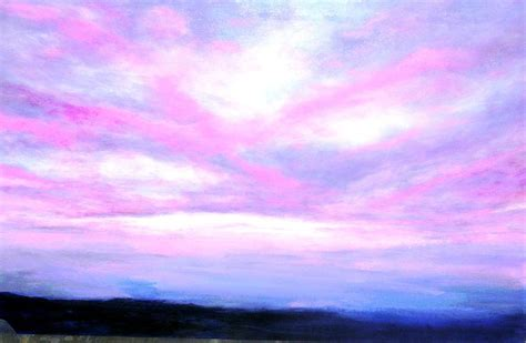 inside wall paint colors blue and pink sky painting by line vasseur