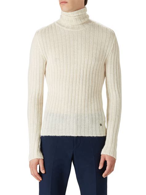 mens wool turtleneck sweater gucci alpaca wool turtleneck sweater in for