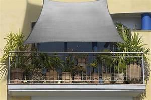 Balkon Sonnensegel 270 X 140cm Grau Aus