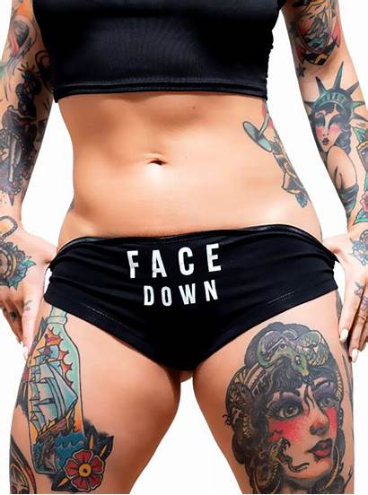 Down Face Ass Booty Shorts Dirty Magazine