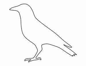 Crow pattern. Use the printable outline for crafts ...