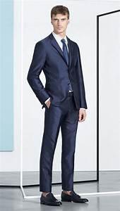 Blauer Anzug Schuhe : eleganter jugendlich schlank geschnittener dunkelblauer zweiteiler aus schurwolle mit seide ~ Frokenaadalensverden.com Haus und Dekorationen