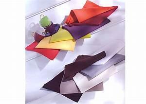 Serviette De Table Tissu Pas Cher : serviette de table tissu coton uni ligne arc en ciel ~ Teatrodelosmanantiales.com Idées de Décoration