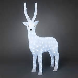 acrylic led reindeer 105cm outdoor led christmas lights webbs direct online garden centre